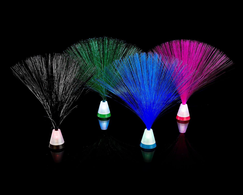 "Playlearn Fiber Optic Light 4 Pack Multicolored Set 9"" Light Base"