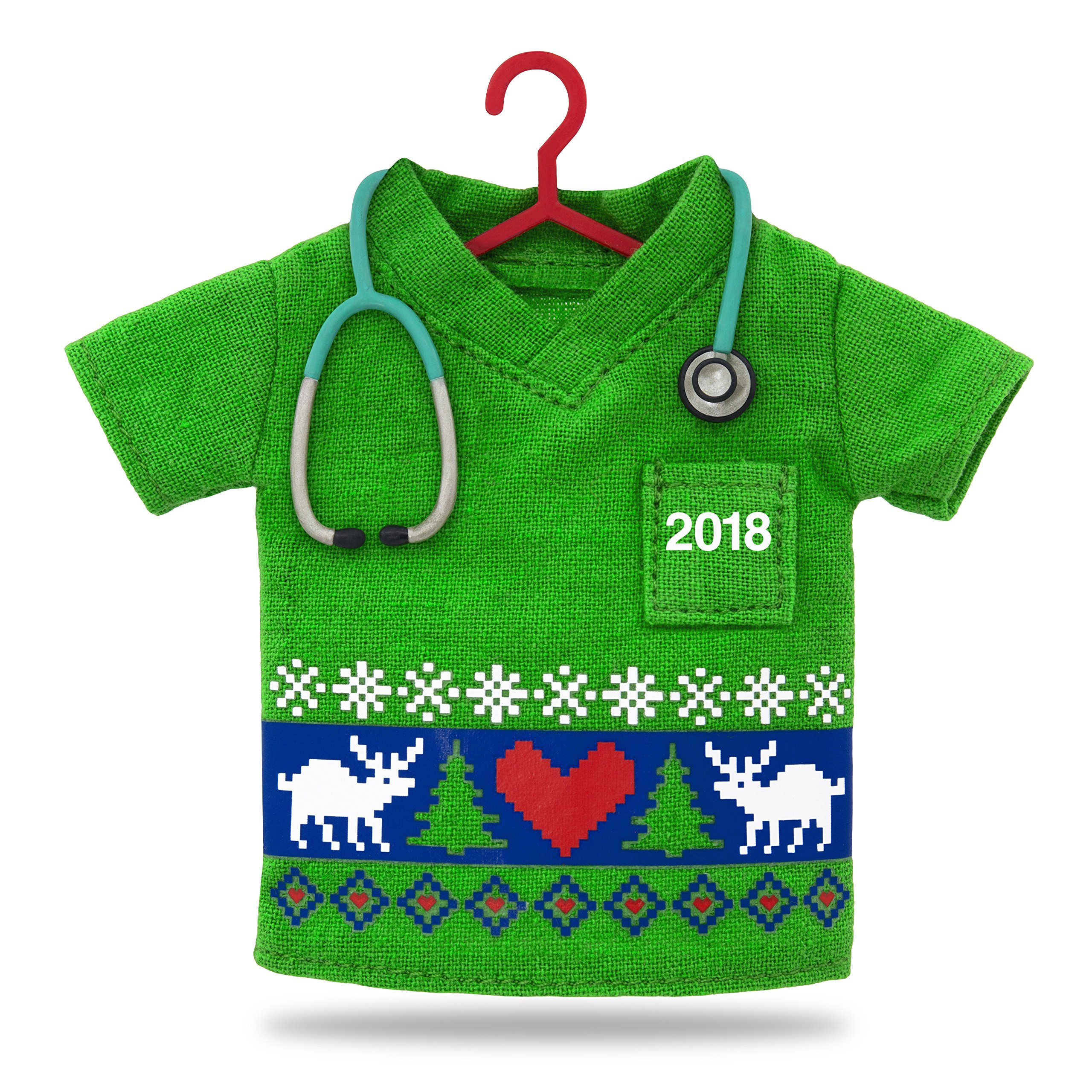 Hallmark Keepsake Christmas Ornament 2018 Year Dated, Happy Holiday Scrubs