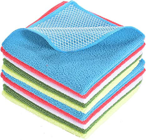 Dish Rags Dish Clothes For Washing Dishes Kitchen Washcloths Kitchen Rags Microfiber Dish Cloths 12 X12 10 Pack