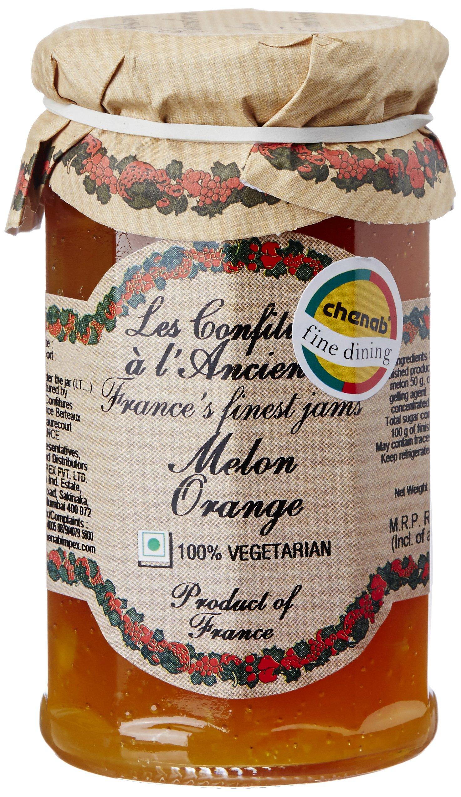 Les Confitures A L'Ancienne 1 Fruit Jam, Melon Orange, 270G