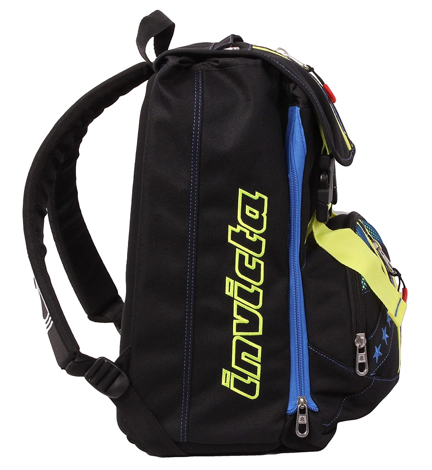 Amazon.com : Doubling backpack - INVICTA KUPANG - Black - Expandable 28 liters school student : Baby