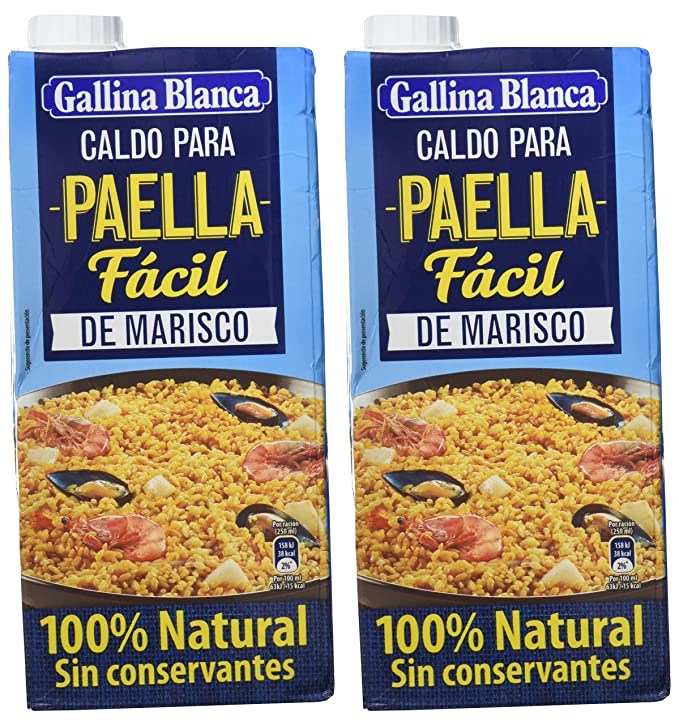 Gallina Blanca Caldo Paella - 1000 ml - [pack de 2]: Amazon.es ...