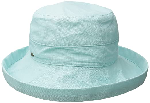 1990d14c1 Scala Women's Medium Brim Cotton Hat, Aqua, One Size: Amazon.co.uk ...