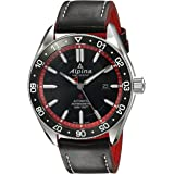 Alpina Men's Alpiner 4 Stainless Steel Swiss-Automatic Watch with Leather Strap