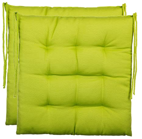 Cojín de asiento cojín para silla de jardín de almohada decorativa y funda de almohada de - 9er acolchado de - en varios diseños, poliéster, verde, ...