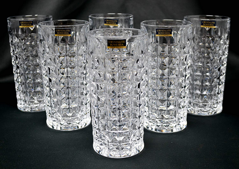 Bohemia Glassware Graffiti design Glass Vase