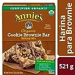 Annie´s Annie´s Organic Cookie Brownie Bar Baking Mix, Galleta y Chocolate, 521 gramos