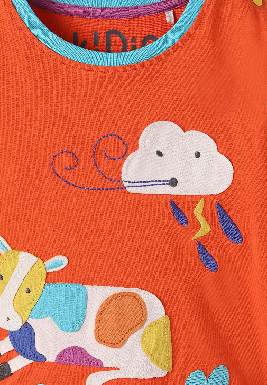 Ragazzo Ragazza Beb/è Bambini Piccoli kIDio Cotone Biologico T-Shirt Manica Corta 0-4 Anni