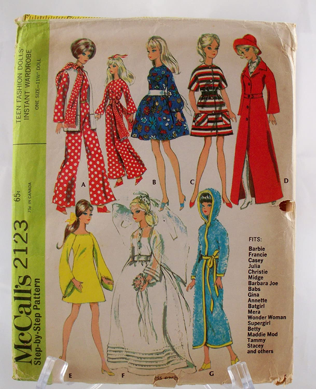 Dress Pattern Christie Vintage 60s Barbie Tammy Doll Clothes Midge Stacey