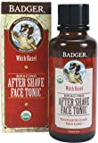 Badger After Shave Face Tonic Glass Bottle, 4 Ounce