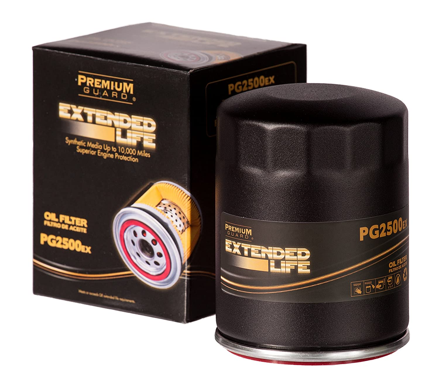 2011-18 LaCrosse 2015-18 Escalade 2011-16 SRX Premium Guard 2014-19 CTS 2016-18 CT6 PG PG2500EX EXtended Performance Oil Filter|Fits 2011-18 Buick Enclave 2016-18 Cadillac ATS 2015-18 Escalade ESV
