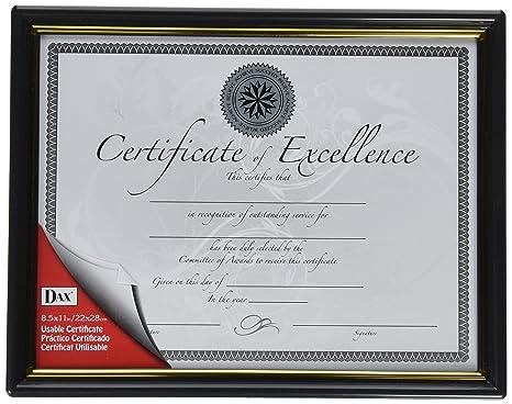 amazon com burnes black gold certificate frames daxn118818t