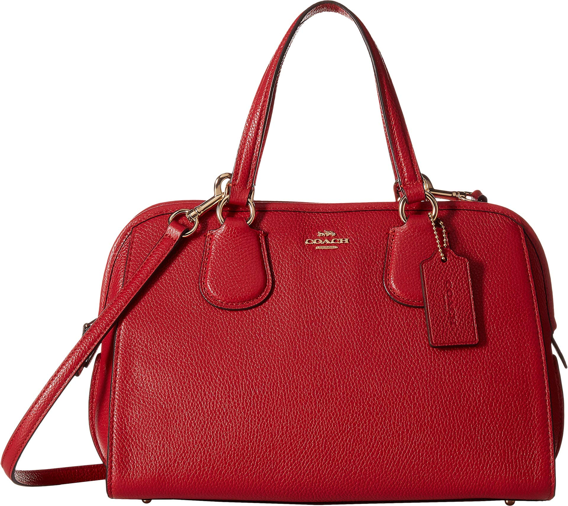 COACH Women's Pebbled Nolita Satchel True Red One Size