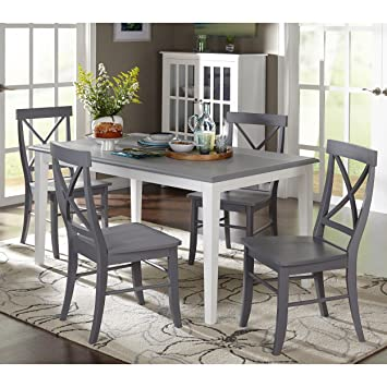Amazon com - 14th Mobility 5-Piece Chair and Table Dining
