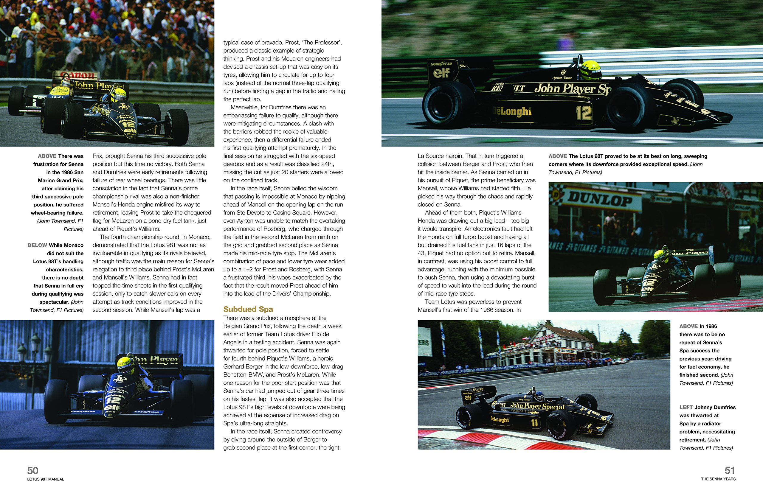 Lotus 98T: Includes all Lotus-Renault F1 cars, 1983 to 1986 (93T, 94T, 95T, 97T & 98T) (Owners Workshop Manual): Stephen Slater: 9780857337771: Amazon.com: ...