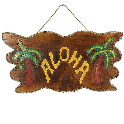 Hawaii pared Cartel Fiesta temática playa bar Tiki Aloha Bar ...