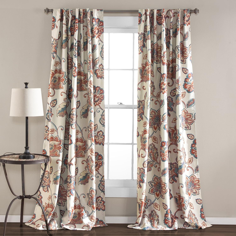 Lush Decor Aster Window Room-Darkening Curtains, Curtain Panels, 84