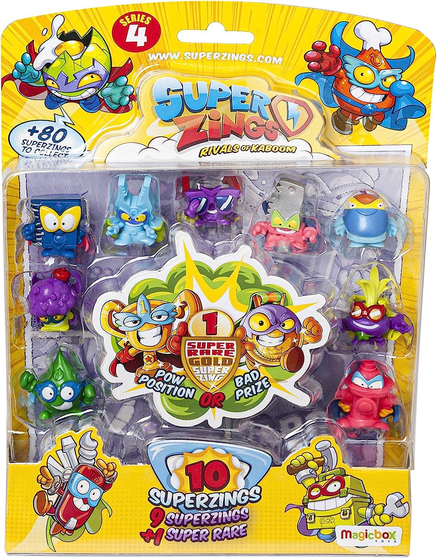 Superzings Serie 4 - Blister 10 Figuras (9 figuras SuperZings + 1 Figura Dorada Super Rare), Modelos Surtidos: Amazon.es: Juguetes y juegos