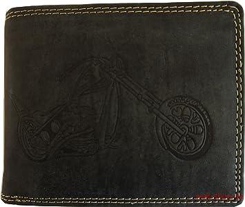 76df0535c4d40 Hochwertige Geldbörse Geldbeutel Portemonnaie Büffel Leder Motorrad Chopper  Wild geprägt