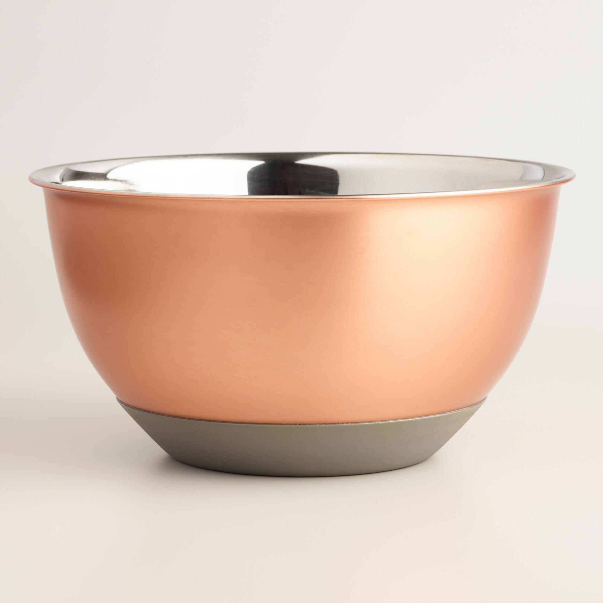6 Quart Copper Nonskid Mixing Bowl   World Market