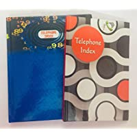 INDOGIFTS Telephone Index Dairies (Big, 16x20cm, 180Pages/Small, 12x19cm, 100Pages) - Pack of 2