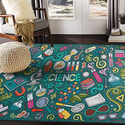 ALAZA Science Chemistry Area Rug Rugs for Living Room Bedroom 7 x 5