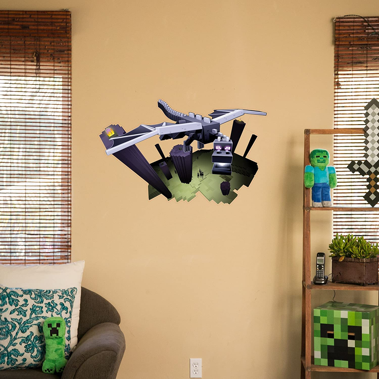 Amazon.com: JINX Minecraft \'The End\' Ender Dragon Removeable Wall ...