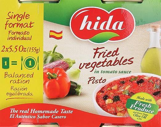 Delicias de Espana, verduras fritas en la salsa de tomate ...