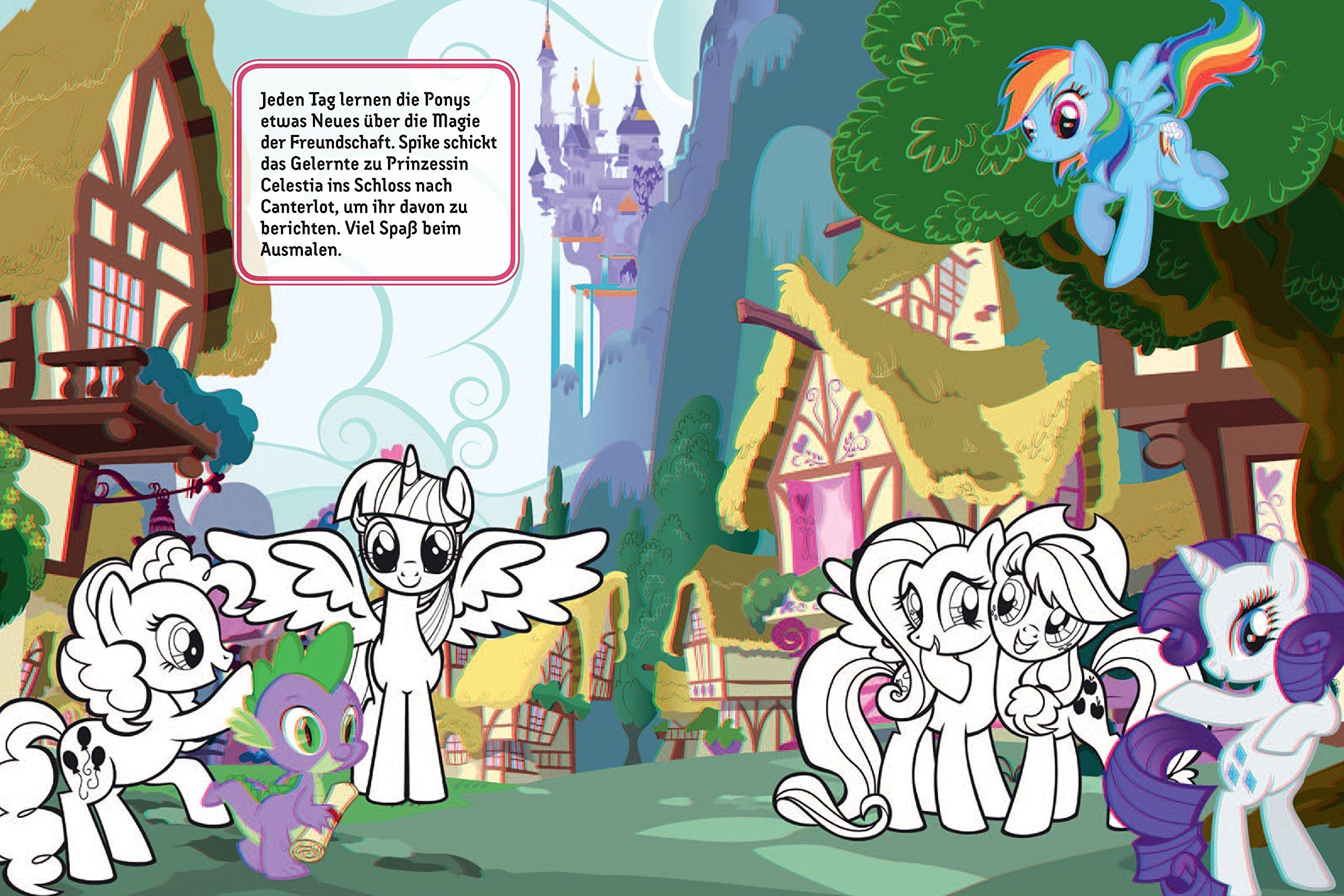 Mein 3d Malbuch My Little Pony Ausmalen Brille Aufsetzen