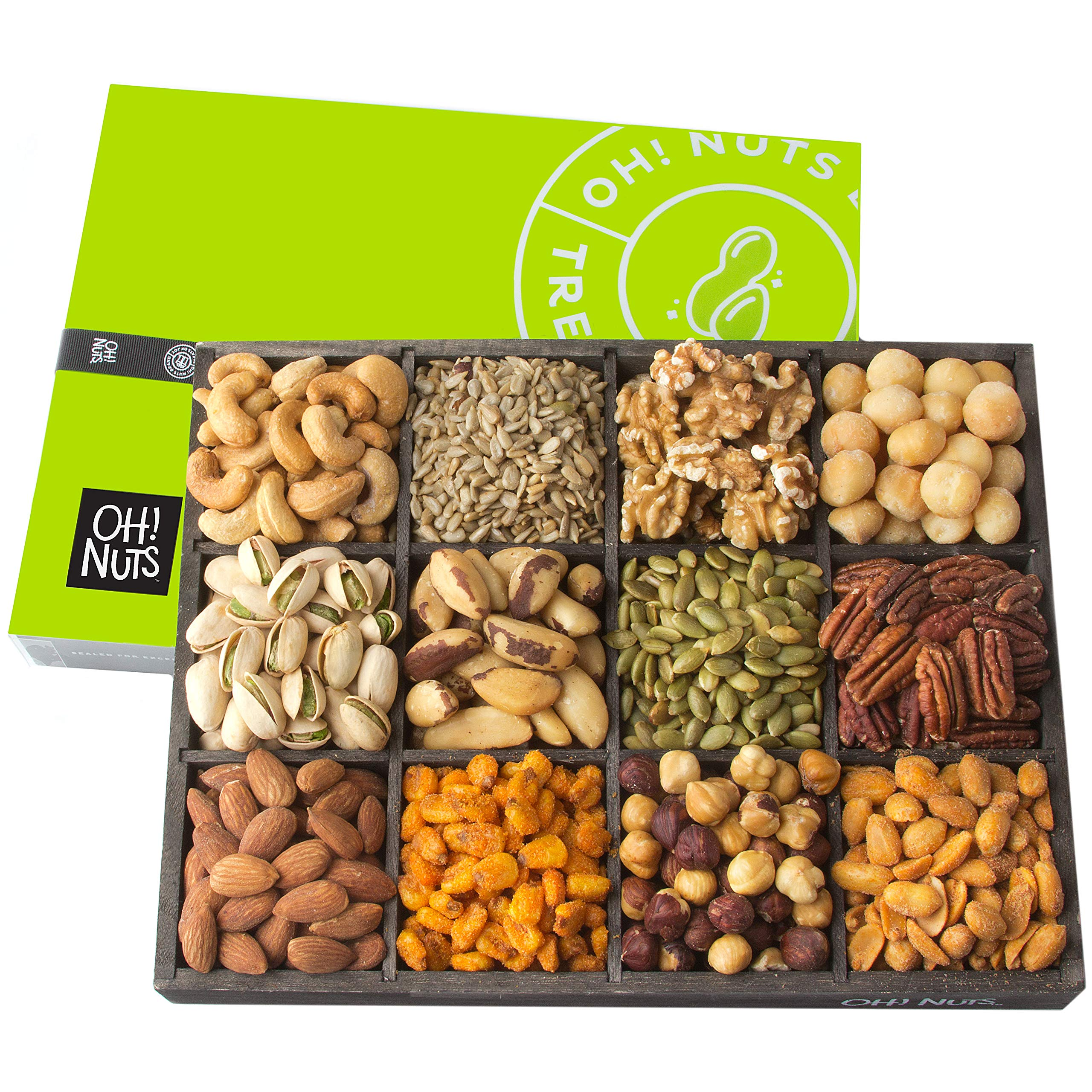 Amazon.com : Oh! Nuts® Mixed Nuts Holiday Gift Box Premium Snack ...
