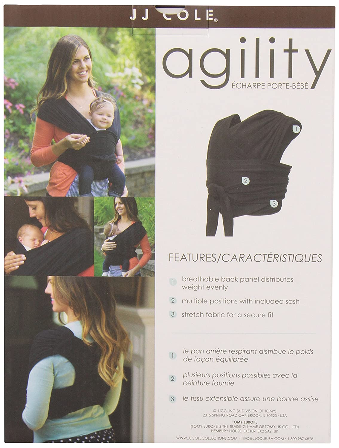 JJ Cole Agility Stretch Carrier Extra Large Black