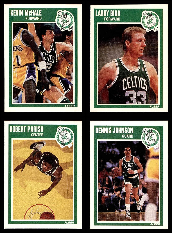 1989-90 Fleer Boston Celtics Team Set Boston Celtics (Baseball Set) Dean's Cards 8 - NM/MT Celtics 91zsk2BYybL