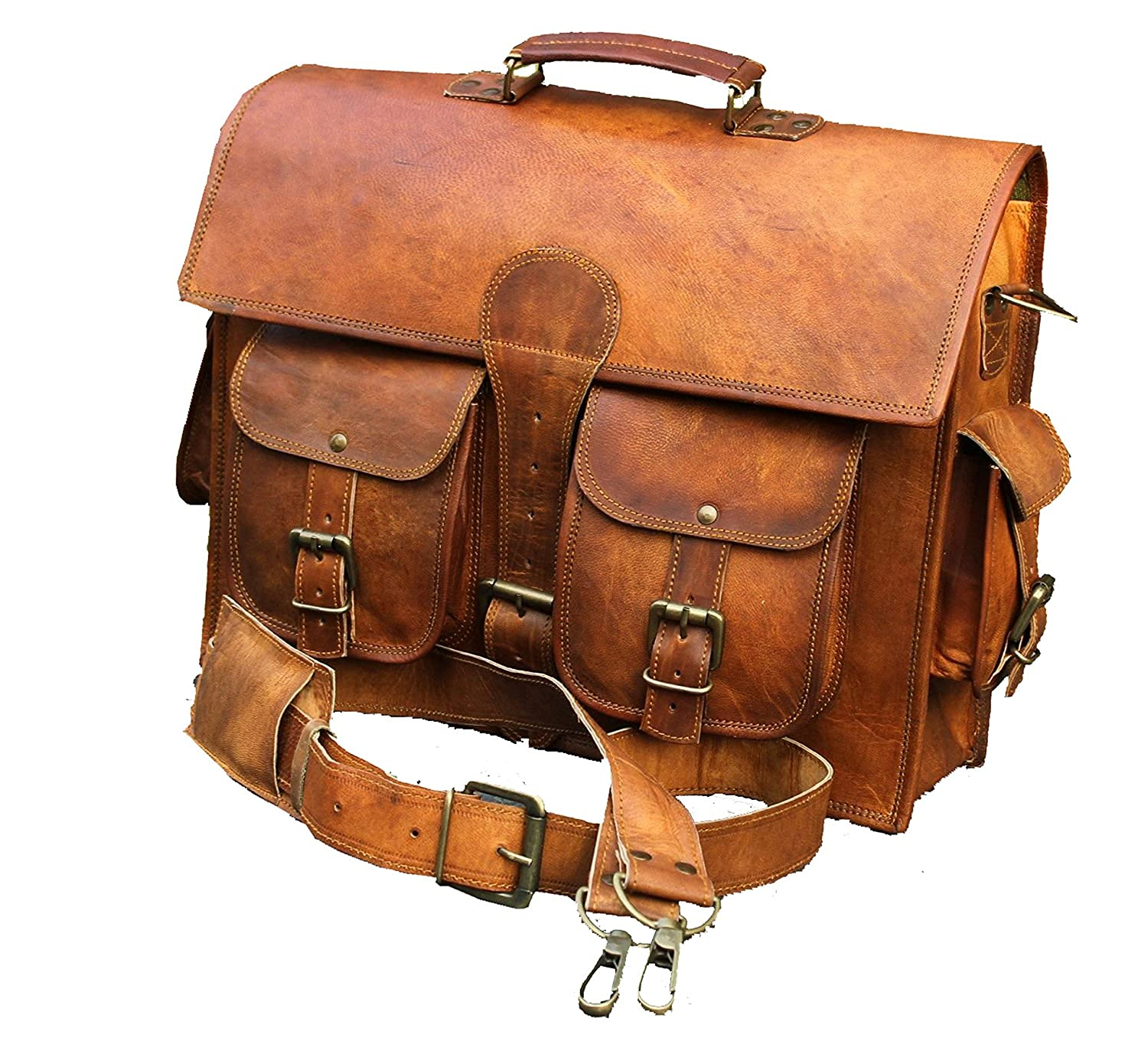 Stellar Styles Genuine Leather Laptop computer School college messenger briefcase backpack macbook tour travel holiday bag