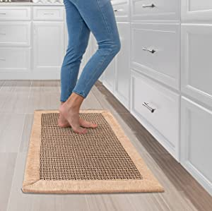 Kitchen Mats and Rugs for Floor - Non Skid Washable Kitchen Floor Mat for in Front of Sink - Waterproof Farmhouse Style Kitchen Carpet - Comfort Kitchen Sink Rug for Standing - Soft & Durable