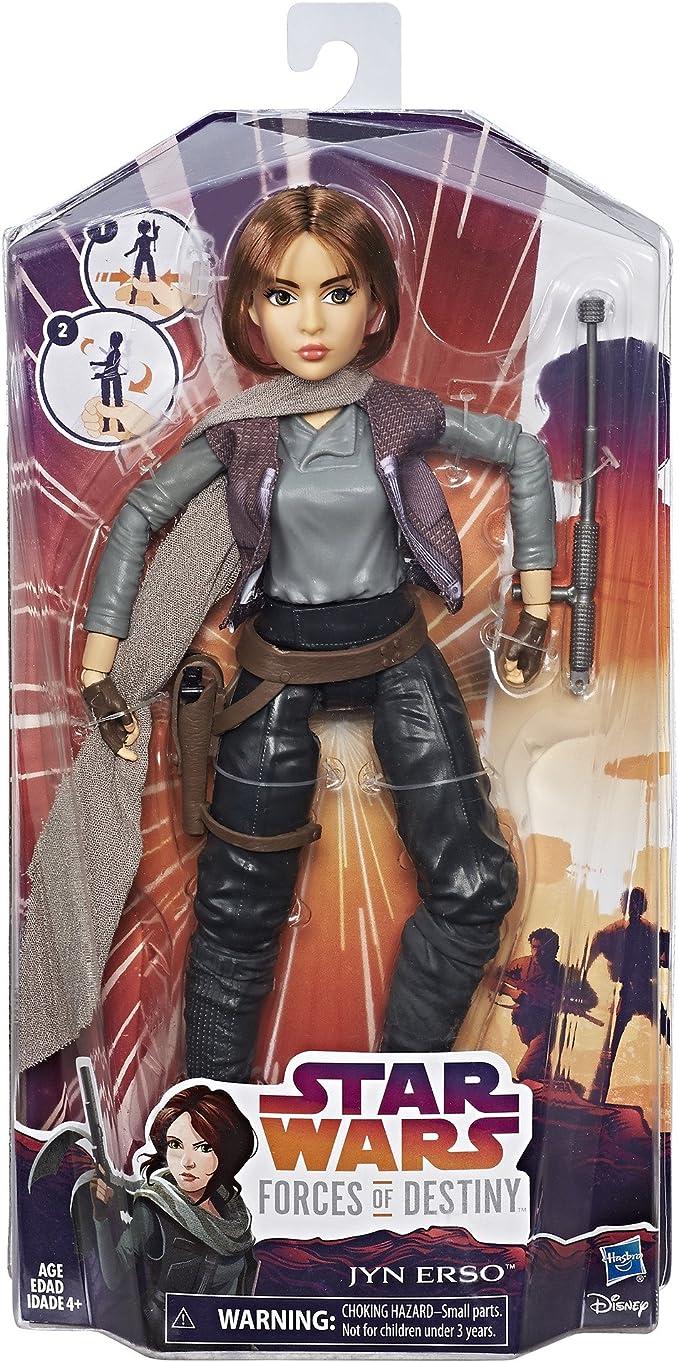 "11/"" STAR WARS FORCES OF DESTINY JYN ERSO GIRL ACTION FIGURE BARBIE DOLL REBELS"