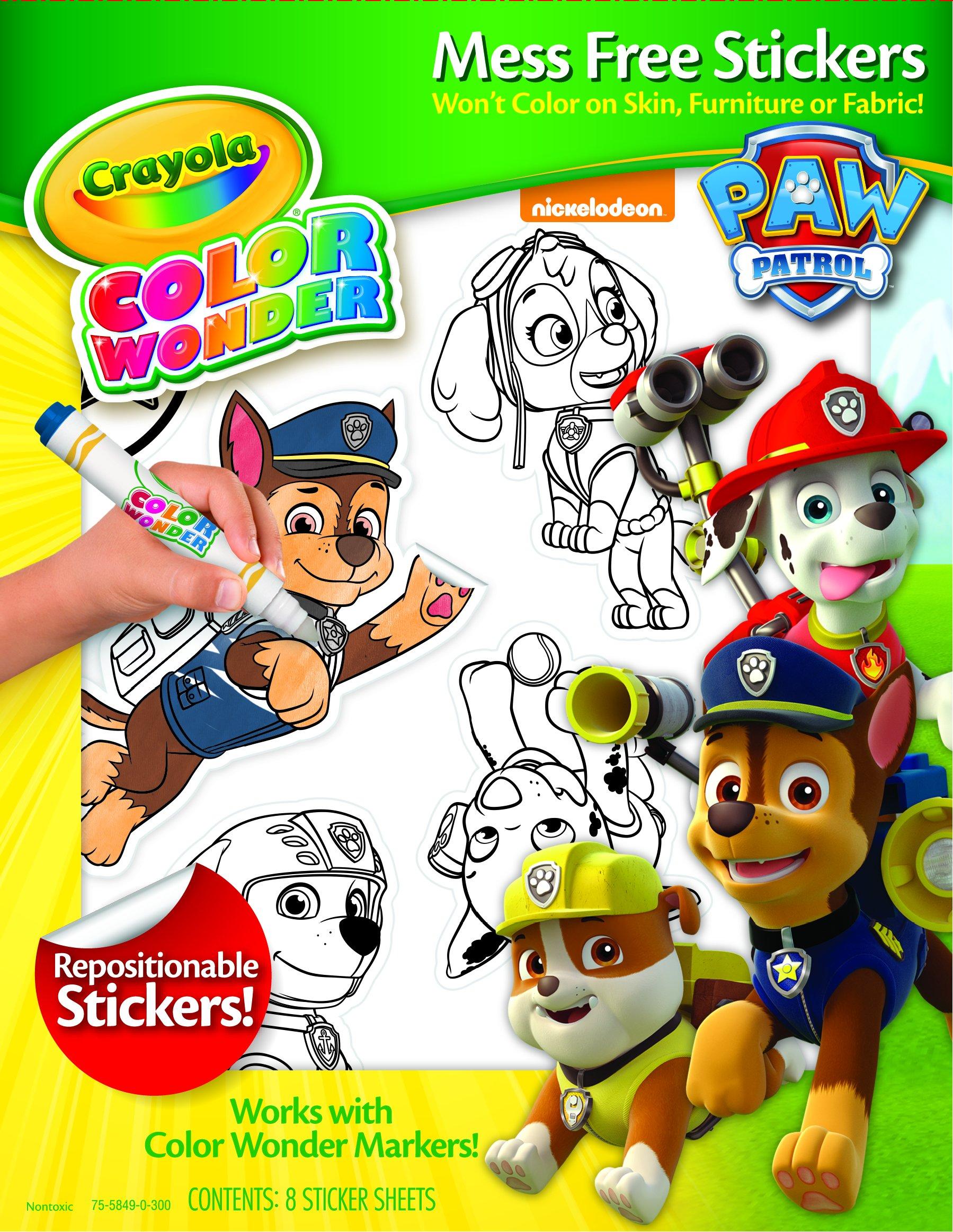 Crayola Paw Patrol Color Wonder Mess Free Stickers