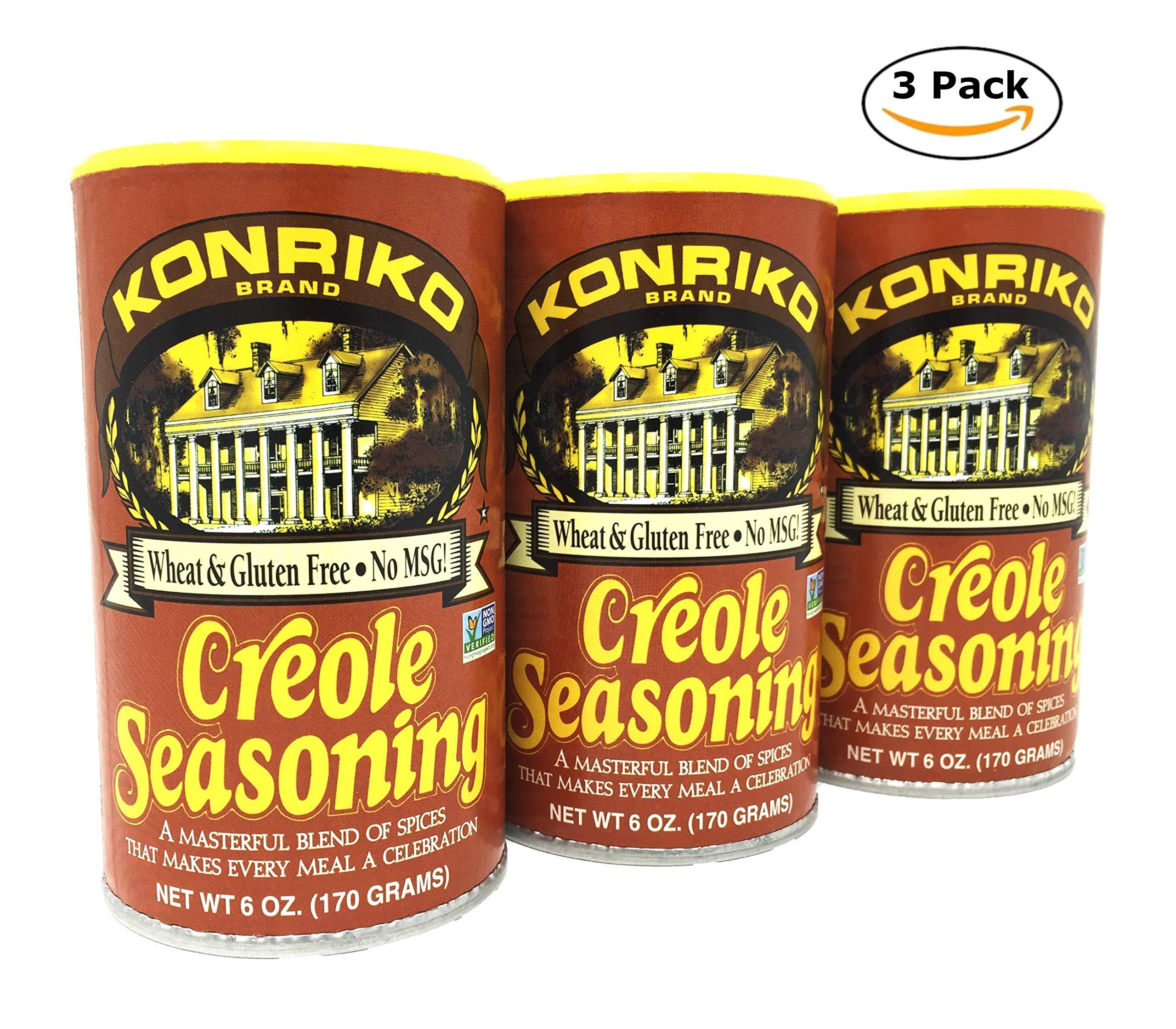 Konriko Creole Seasoning 6oz Canister (Pack of 3)