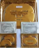 DreamMi️ ( 10 + 10 + 10 ) 10 Pieces 24K Gold Bio-Collagen Face Facial Mask + 10 Pieces Gold Lip Mask + 10 Pairs Gold Eye Pad, Anti Wrinkles/Aging, High Moisture, By DreamMi