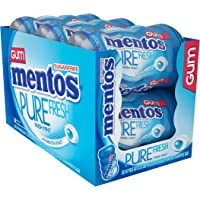 Mentos Pure Fresh Sugar-Free Chewing Gum with Xylitol, Fresh Mint, Stocking Stuffer, Gift, Holiday, Christmas, 50 Piece Bottle (Pack of 6)