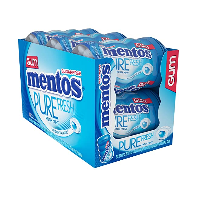 Mentos Pure Fresh Sugar-Free Chewing Gum with ...
