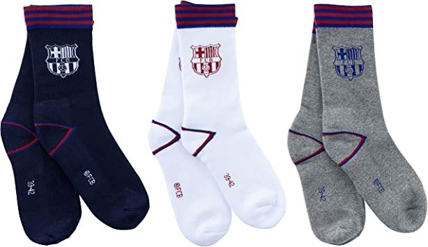 3 x par de calcetines Barca – Colección oficial FC Barcelona – para ...