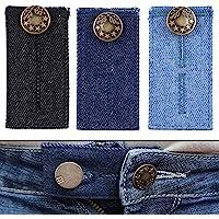 Extensor de Cintura para Jeans, Pantalones, vestidos y faldas, Juego de 3 / 6, Alargador Pantalones hasta 5 cm…