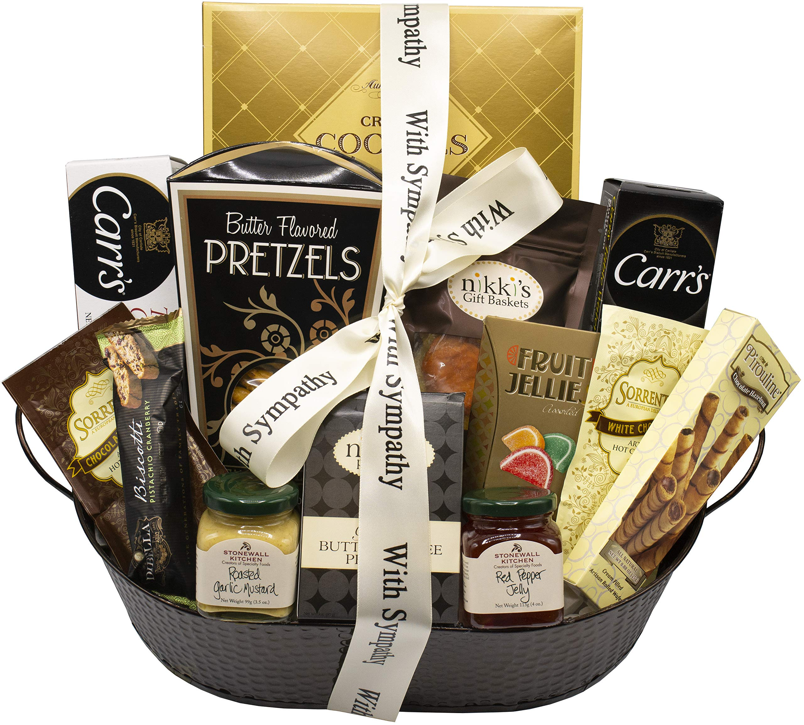 With Sincere Sympathy Condolence Gift Basket by Nikki's Gift Baskets  (Image #2)