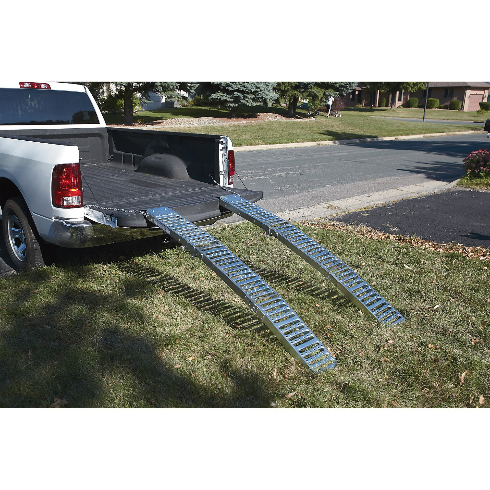 Ultra-Tow Folding Arched Steel Loading Ramps- 6ft 1,000-Lb. Load Capacity (Pair)