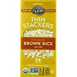 Lundberg Organic Thin Stackers Grain Cakes, Brown Rice Salt Free, 5.9 Ounce (Pack of 12)