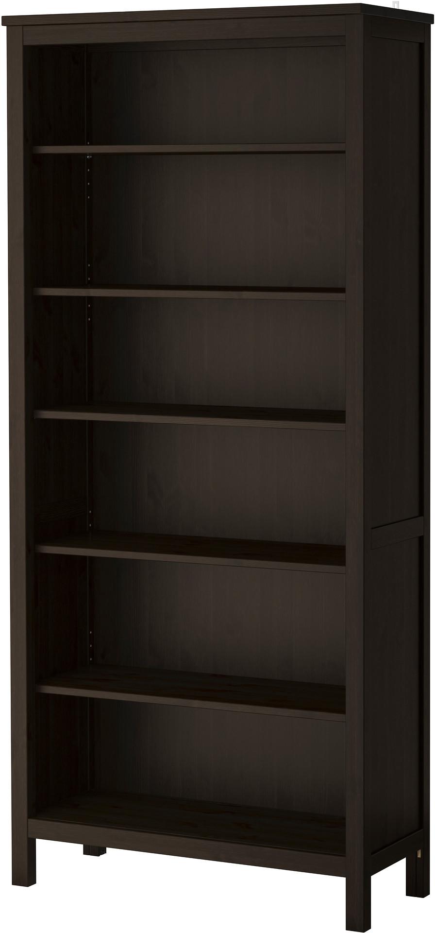 HEMNES Bookcase - black-brown - IKEA