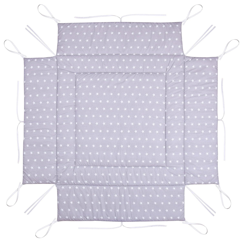 Amilian® Laufstalleinlage Laufgittereinlage Schutzeinlage 100 x 100 cm Sternchen grau