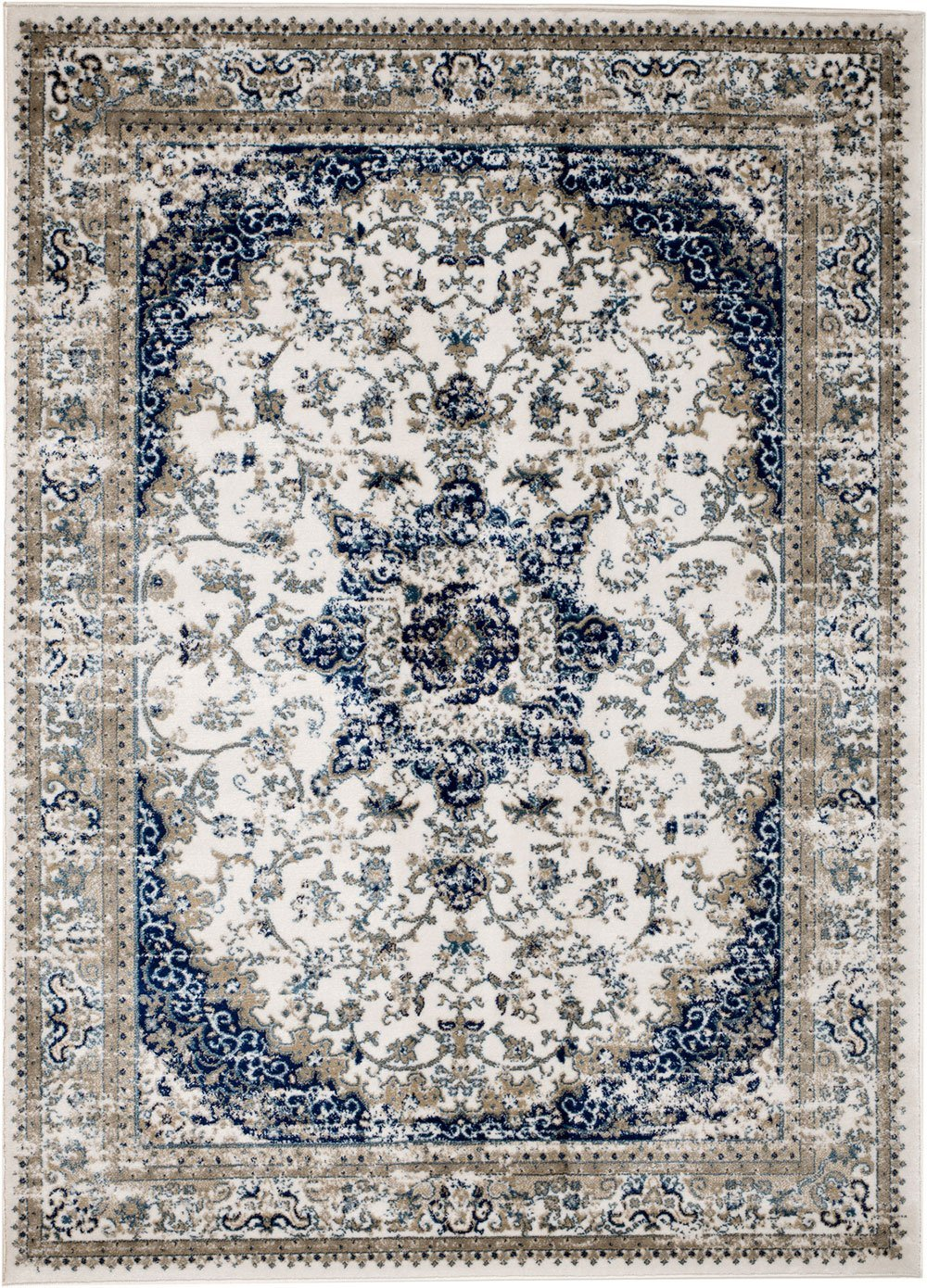 MADISON COLLECTION TN-W5MZ-GUWG 401 Vintage Distressed Style Area Rug Clearance Soft Pile Durable Size Option , 1'.10'' x 7 ' hallway runner