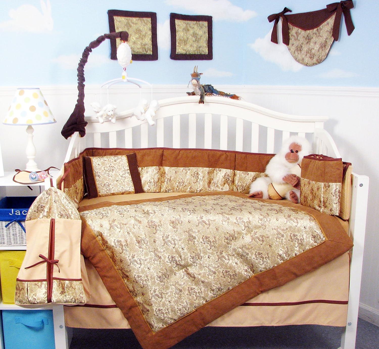Golden pcs Dragon Silky Designs Baby Crib Diaper Nursery Bedding Set 13 pcs included Diaper Bag with Changing Pad & Bottle Case by SoHo Designs B0012IZ9ZA, 音楽大陸:1d74b8eb --- ijpba.info