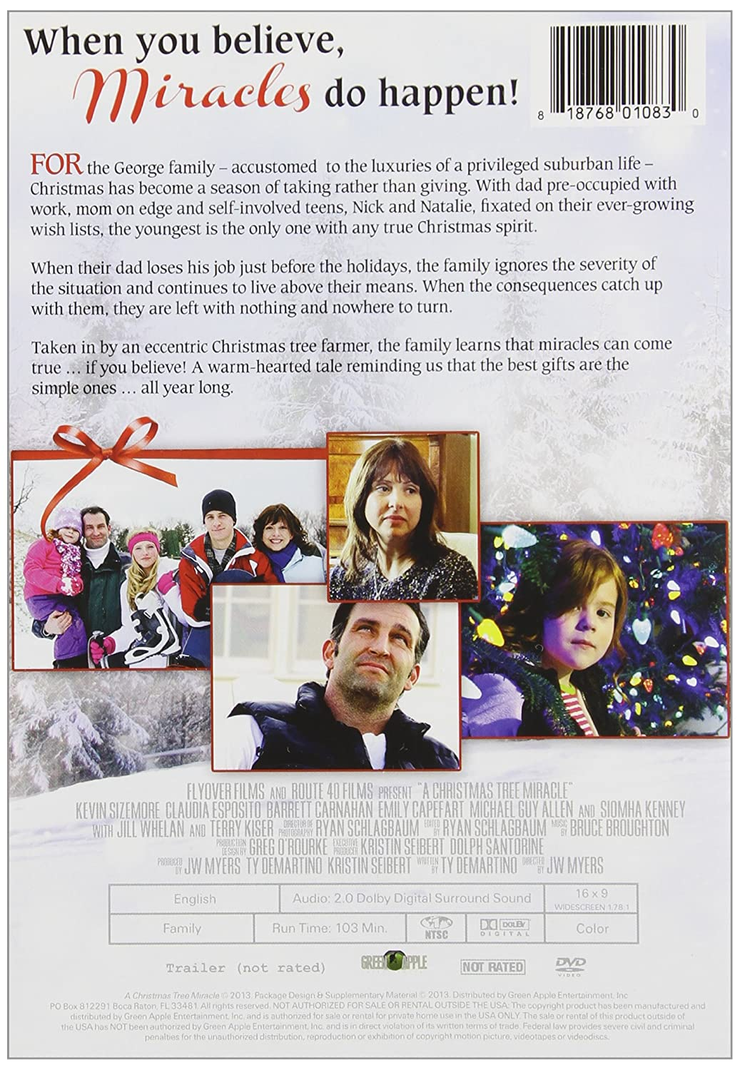 Amazon.com: A Christmas Tree Miracle: Kevin Sizemore, Terry Kiser ...